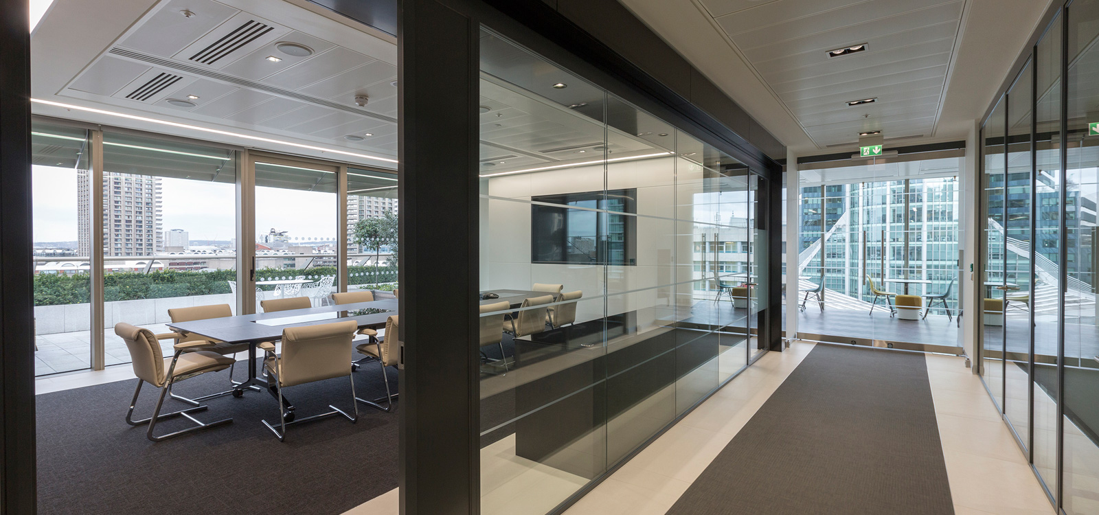 Interiors - Monochromatic office interiors fit out in London